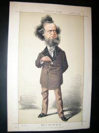 Vanity Fair Print 1872 William Hepworth Dixon